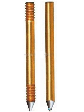 Cọc tiếp địa,  copper clad steel grounding rod copper  Φ16*1500 Φ18*2500mm