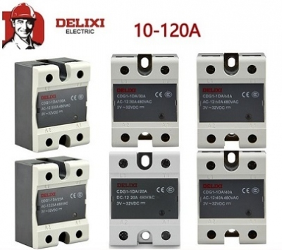 Rơle đóng cắt mềm, Delixi single-phase solid state relay DC controlled AC CDG1-1DA 40A 10 25 60 100A SSR