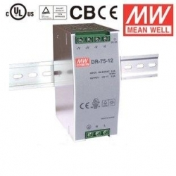 Bộ nguồn MEAN WELL DR-75-24/12/48 24VDC 3.2A 75W, DR-120-12/24/48 12VDC 10A 120W